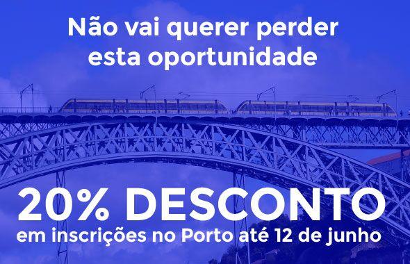 Desconto de 20% na Formabase Porto de 26 de Maio a 12 de Junho