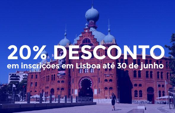 20% de desconto em todos os cursos até 30 de Junho | Lisboa